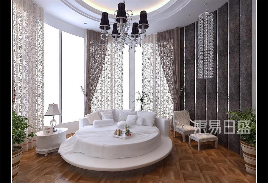 广顺后现代城新古典卧室装修效果图