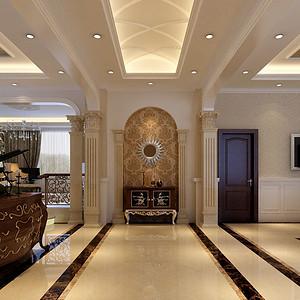 别墅门厅-欧式古典-装修效果图