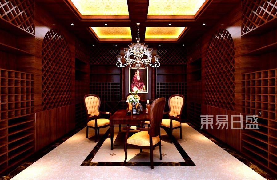 广顺后现代城新古典酒窖装修效果图