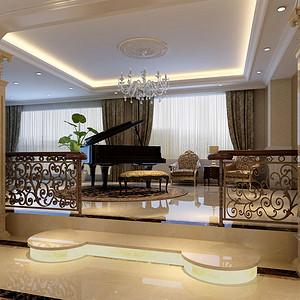 别墅琴房-欧式古典-装修效果图