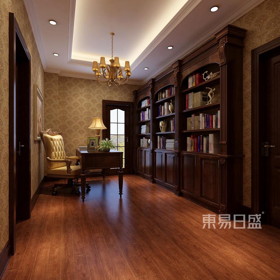 别墅书房-欧式古典-装修效果图