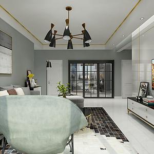 光明城-现代简约风格-客厅效果图