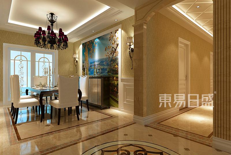 欧式古典 - 白色墙裙加简洁的跌级吊顶空间明亮简洁