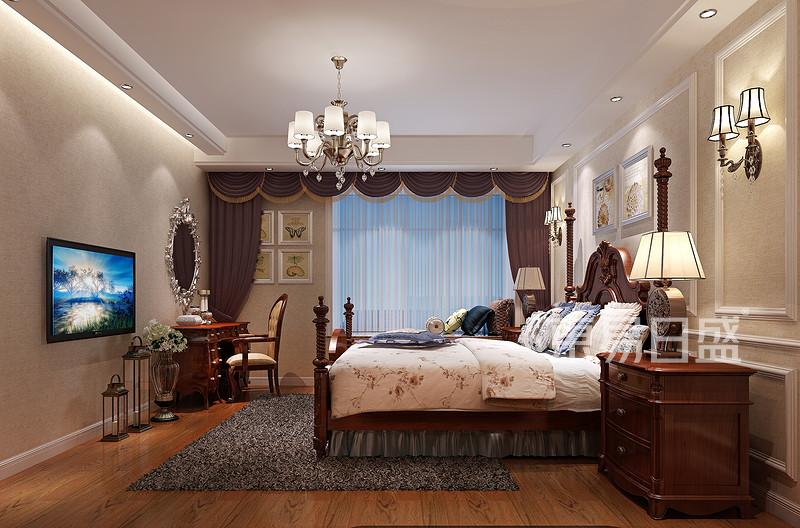 金地博登湖-现代风格主卧室