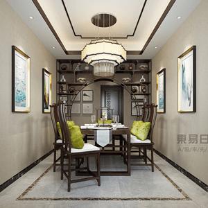 新中式客厅木作衬托出主人的沉稳大气