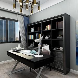 光明城-现代简约风格-书房效果图