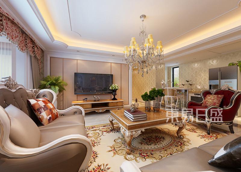 欧式古典 - 客厅电视墙配色及造型