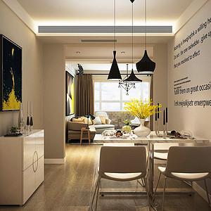 现代简约风格-餐厅-装修效果图