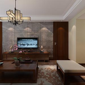 新中式-客厅电视背景墙