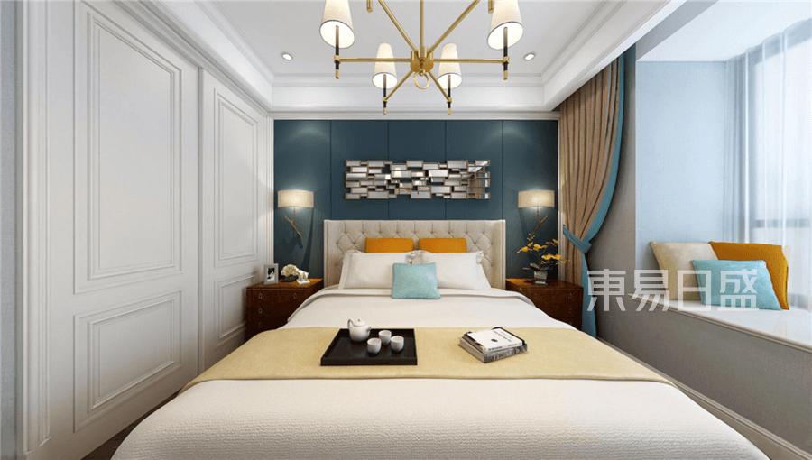 现代美式风格卧室装修设计效果图