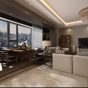 现代中式-阳台