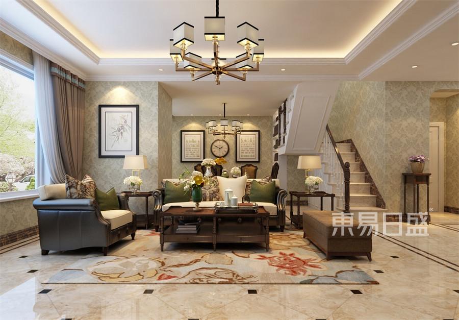 复式-简欧-客厅沙发背景墙-效果图效果图   分享  收藏  空间  风格