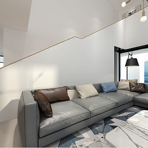 现代极简客厅
