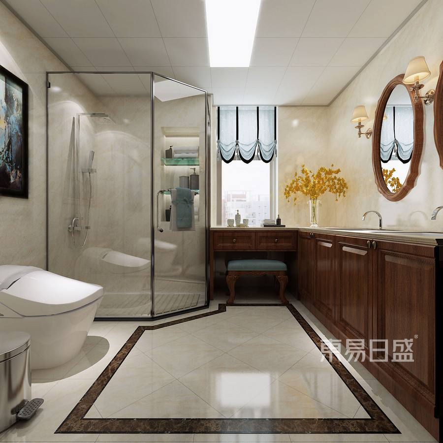 三居室-欧式-卫生间-效果图