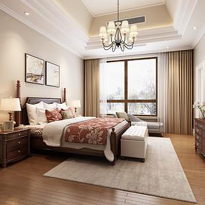 轻奢美式主卧装修效果图-卧室装修效果图