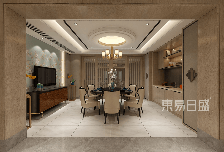 新大陆壹号-新中式风格-餐厅