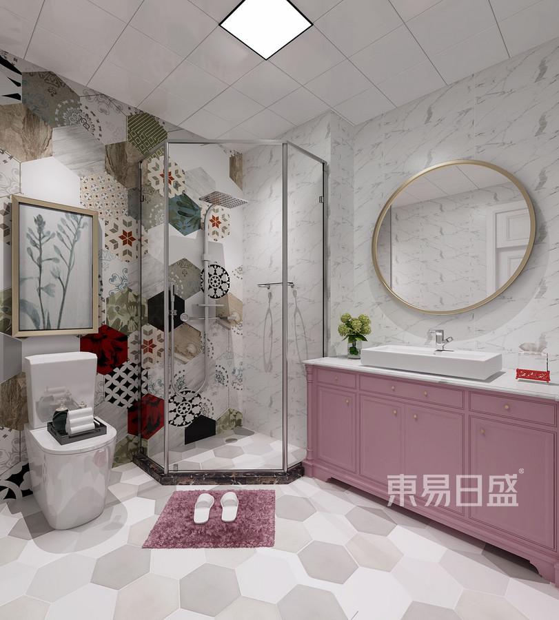 三居室-欧式-女儿房卫生间-效果图