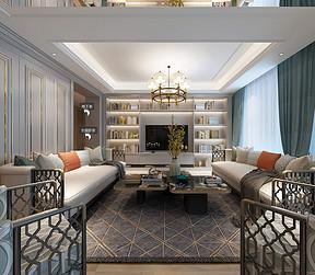 西水东 简约美式 一楼客厅