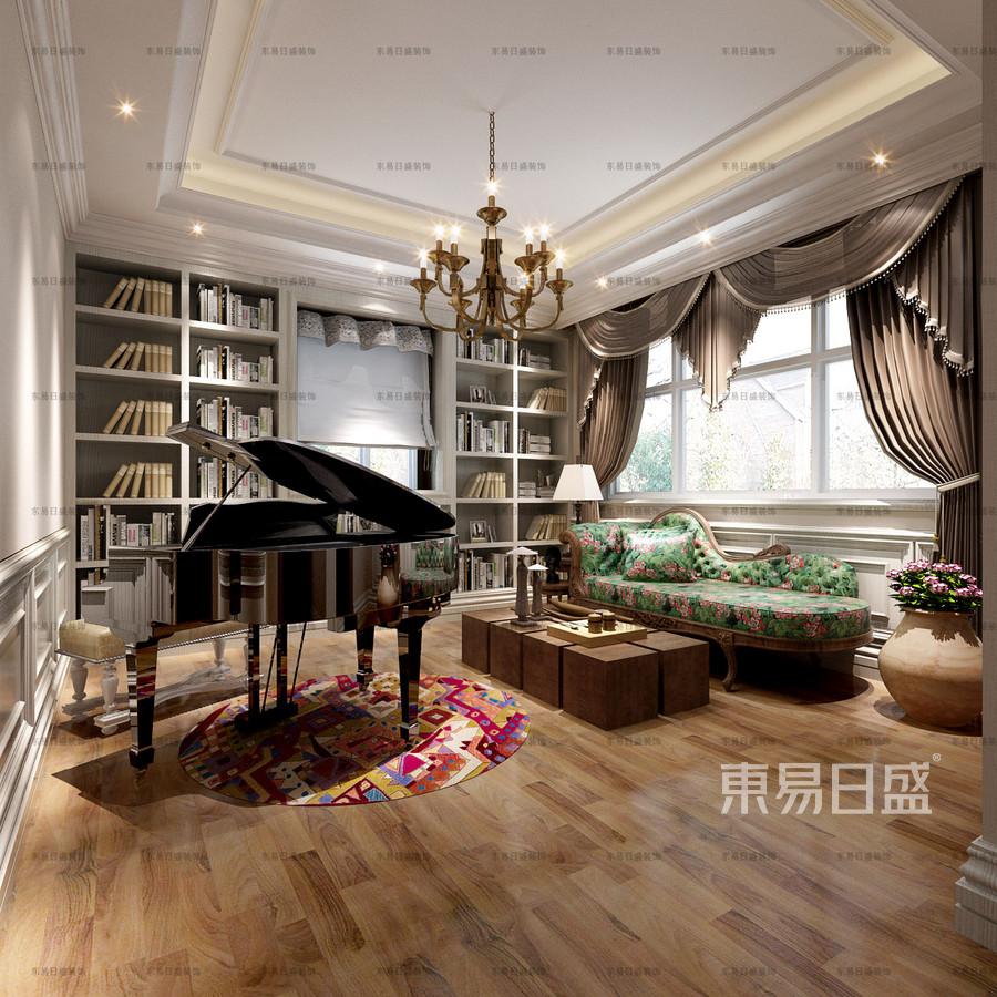 美式風格起居室