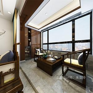 新中式-阳台茶歇区