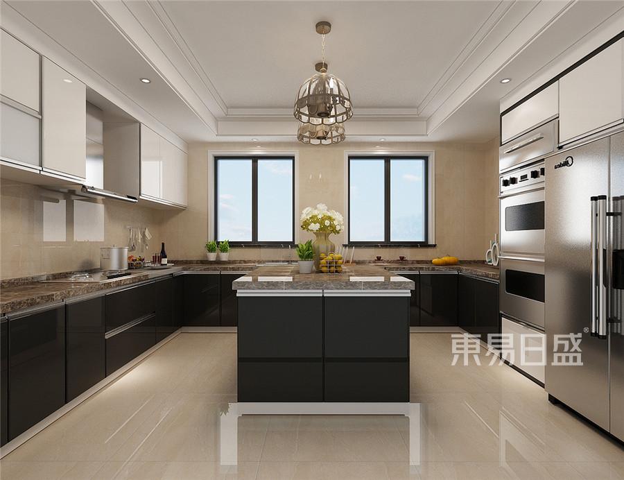 复式-欧式古典-厨房效果图