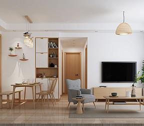 金色华庭日式无印良品客厅装修效果图