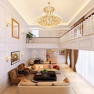 中间建筑-520平米-美式风格