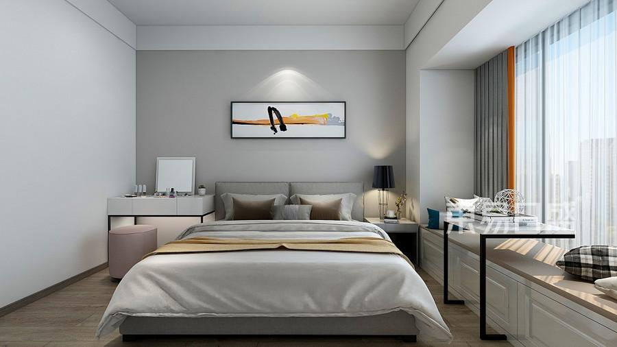 城市广场-清新现代风格-卧室装修效果图