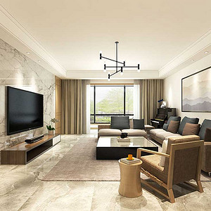 东润泰和现代风格201㎡五居室