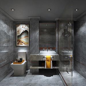灰底瓷砖装饰墙面