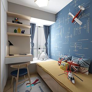 金色华庭日式无印良品儿童房装修效果图