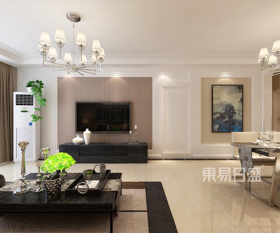 138紫城秦皇半岛现代简约风格客厅装修效果图