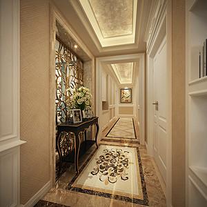 走廊搭配上条案让空间