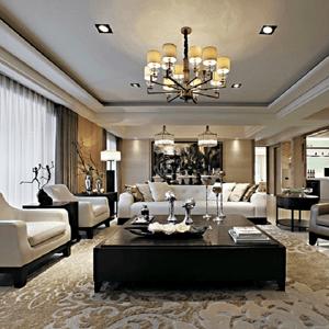 重庆室内设计案例:融创御景121平米现代港式风格