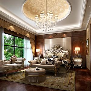 英式古典风格卧室效果图