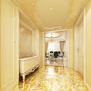 旺海公府新装饰主义门厅装修效果图