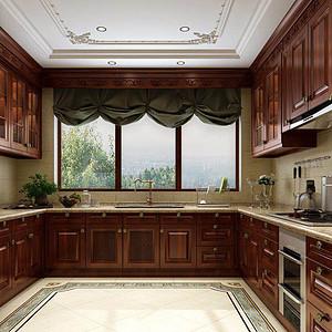 1000㎡别墅欧式风格厨房效果图