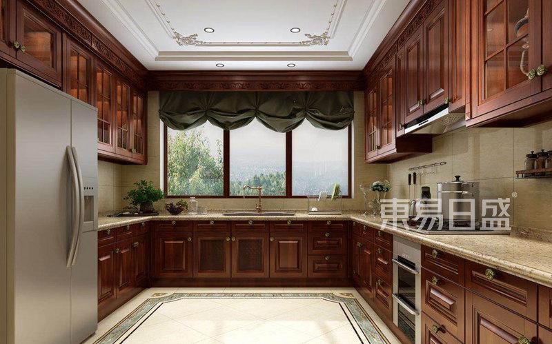 欧式古典 - 1000㎡别墅欧式风格厨房效果图