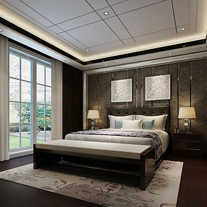 丽春湖院子-卧室装修效果图