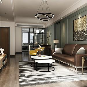 保利拉菲131平三室二厅现代风格装修案例