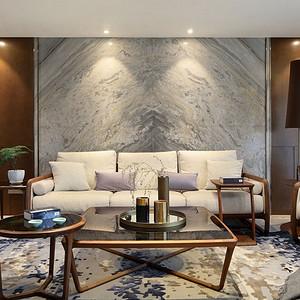 复地东湖国际110平米中式风格装修实景图