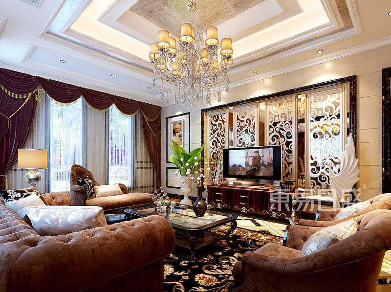 天工名爵府欧式古典风格客厅效果图