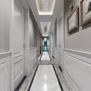 门厅隐藏式的端景玄关柜