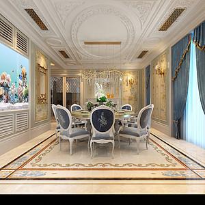 一层法式宫廷风格餐厅