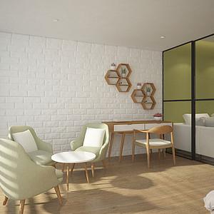 110㎡三居室北欧风格舒适阳台效果图