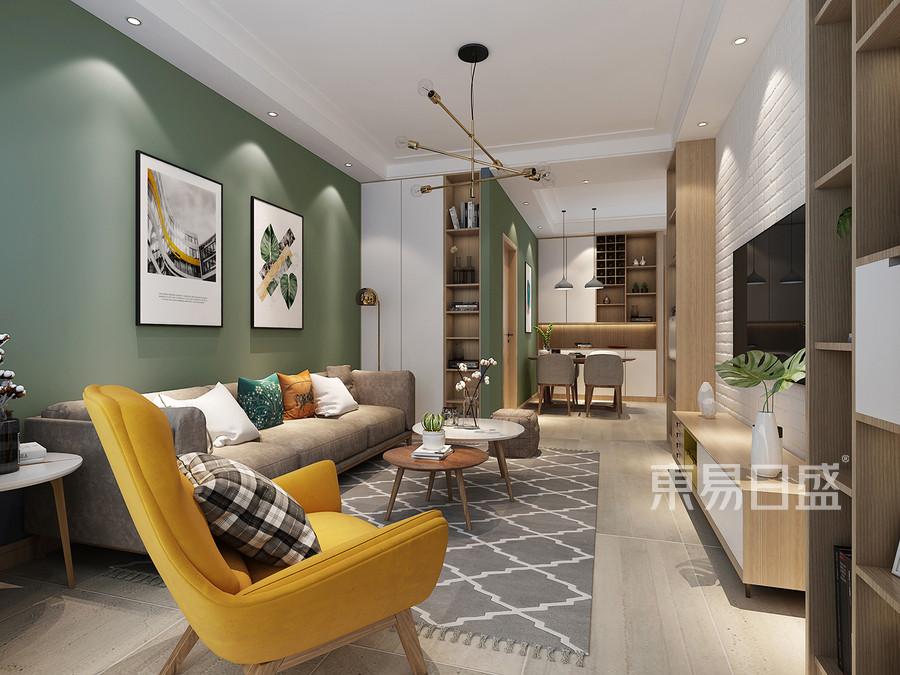 北歐風格客廳裝修設計效果圖_2018裝修案例圖片-裝飾