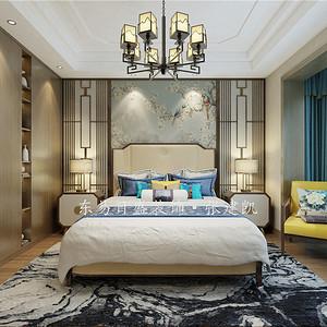 卧室新中式装修效果图-卧室装修效果图 卧室装修图片 卧室装修效果图