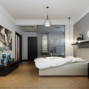 天成佳园现代简约190㎡卧室装修效果