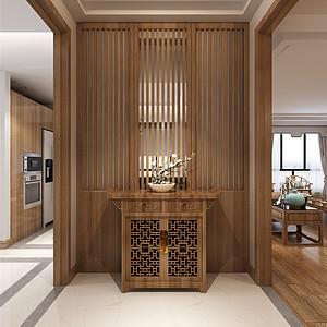 欣悦华庭新中式风格门厅装修效果图