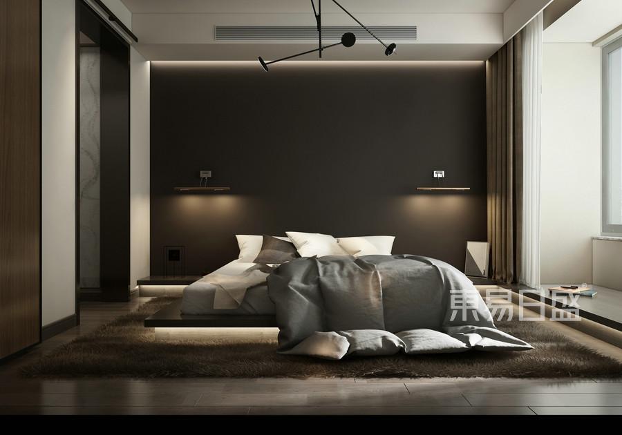 现代风格-卧室-装修效果图